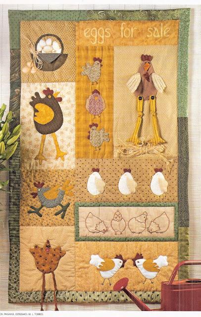 Labores artesanas llenemos la cocina de gallinas - Almazuelas patrones gratis ...