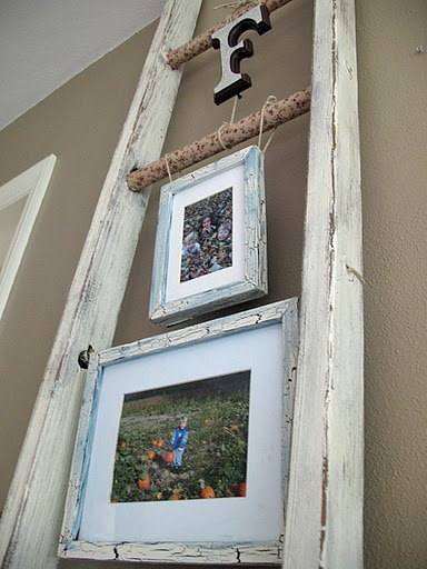 Hammers and high heels head over heels vintage ladders for Creative ideas for old picture frames
