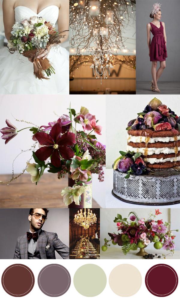 La fleur vintage color love pomegranate and fig - Color schemes with maroon ...
