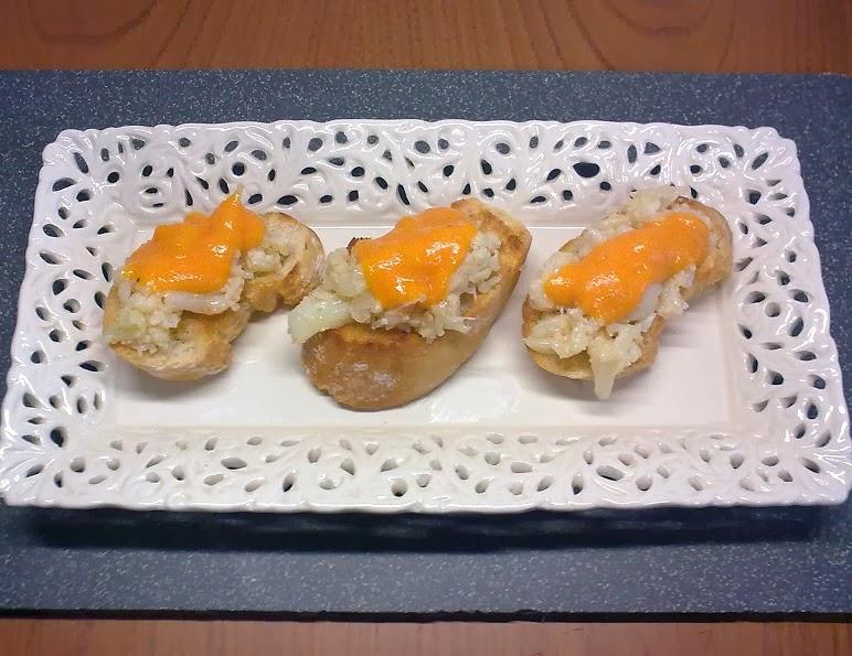 Tostas de Coliflor con Crema de Zanahoria