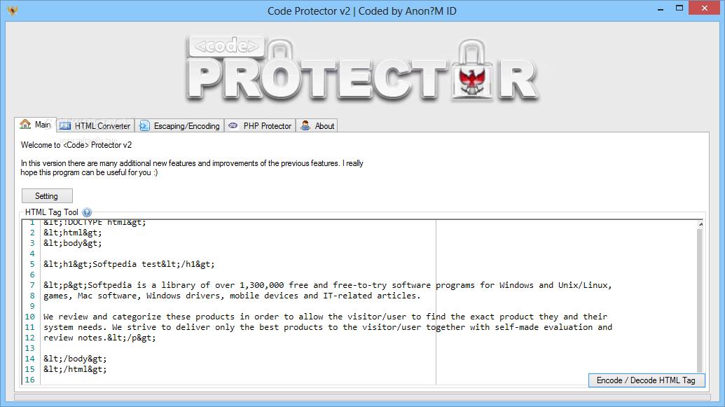 برنامج حماية الأكواد Code Protector لحماية تصميماتك و قوالبك من السرقة
