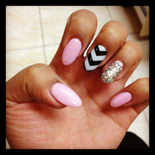 The Amusing Black and white stiletto nail designs Image