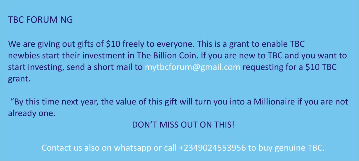 Be a Tbc member now for free!!!