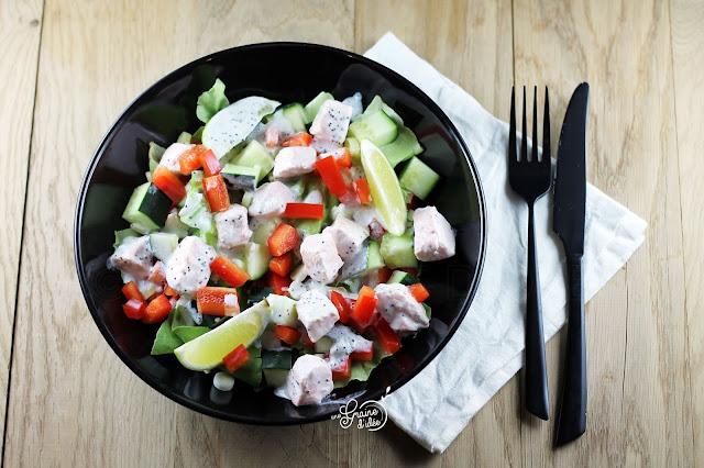 Salade Saumon Légumes Croquants