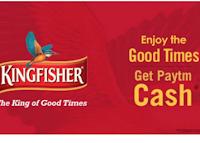 Buy Kingfisher Beer & Get Rs. 20 Paytm Cash code : Buytoearn