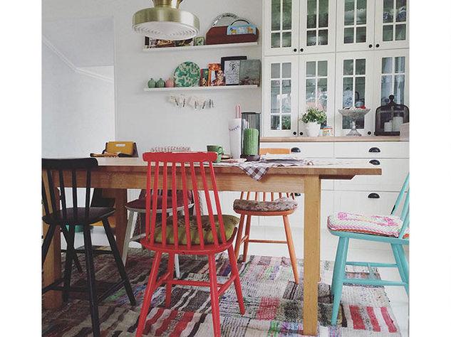 L 39 appartamento al piano di sotto tocchi vintage in casa - Idee arredamento cucina ...