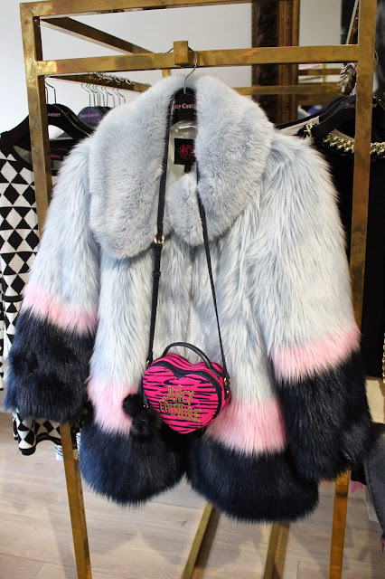 georgie-georgina-minter-brown-fashion-blogger-actress-juicy-couture-press-day-fall-2015-clothes-style-new-outfits-fur-colour-coat-kids