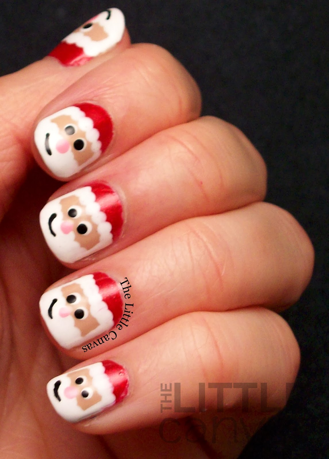 Santa Claus Nail Art - Take 2