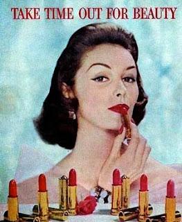 publicidad de labiales en los años 50