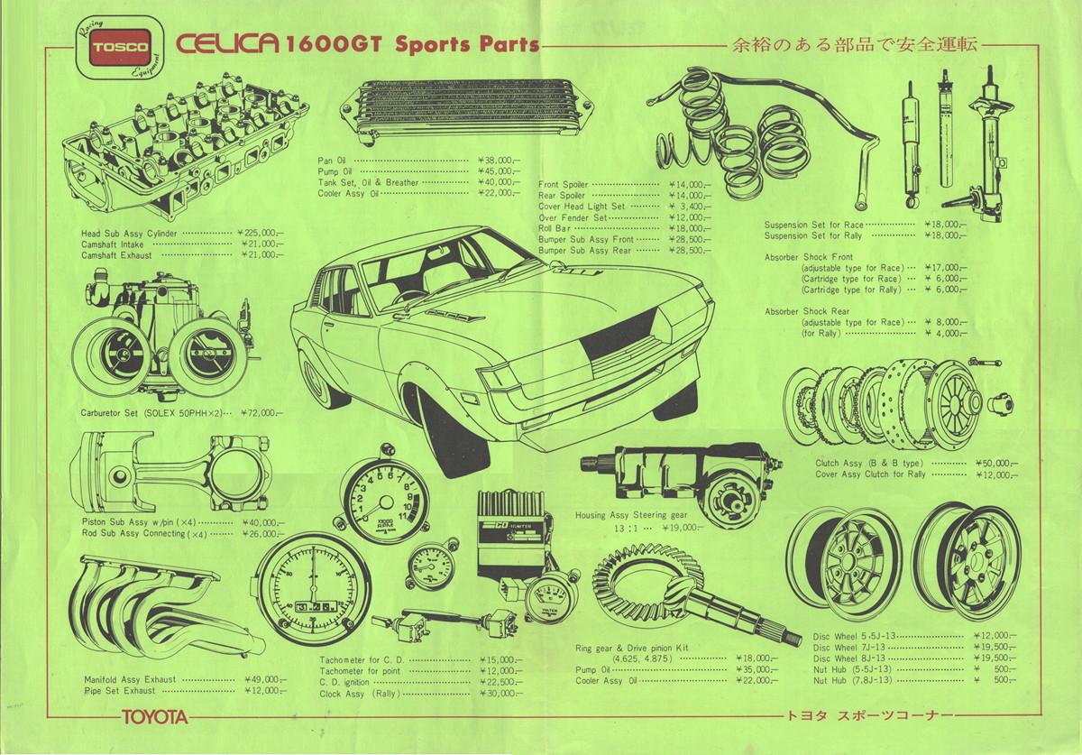 Toyota Celica, A20, tuning, modyfikacje, części, sklep, klasyczna