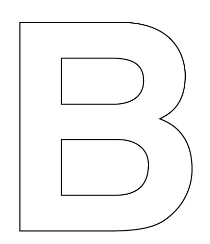 Lucrative image for printable cutout letters