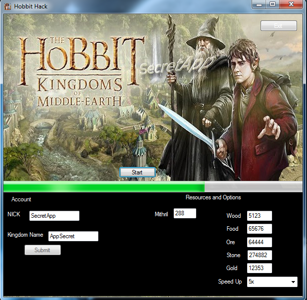 Hobbit : Kingdom of the Middle Earth - Mithril and Resources HACK