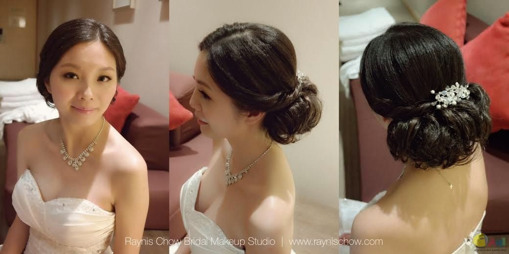 low updo great makeup not overdone