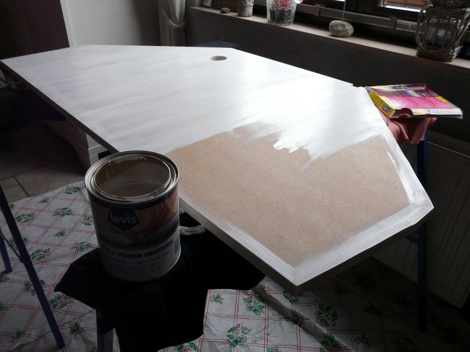 Mr peinture la table union jack - Peindre sur laque brillante ...