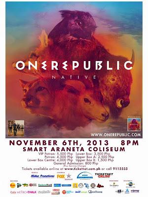 OneRepublic LIVE in Manila #OneRepublicMNL