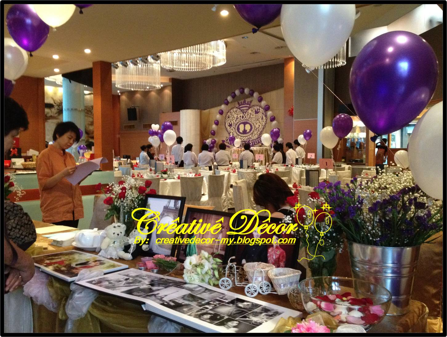 Creatived cor by vincent balloon decoration for chinese for Balloon decoration for wedding reception