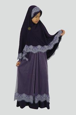 Model Gamis Jersey Anak Syari Murah