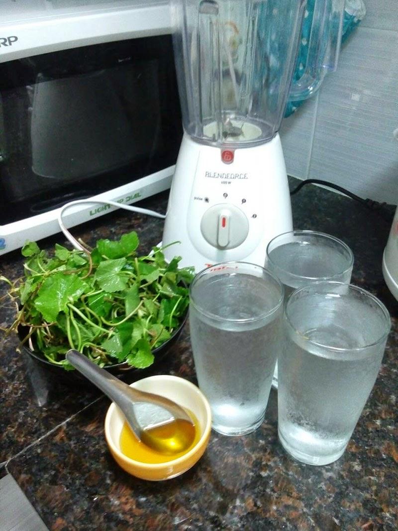 สูตรน้ำใบบัวบก (สูตร 3 แก้ว)