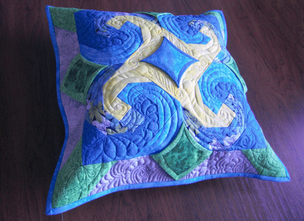 #springquiltcushion