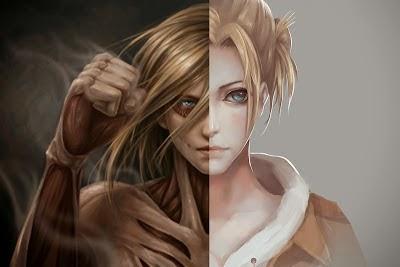 karakter yang dapat berubah menjadi titan