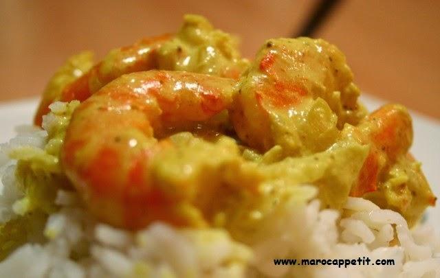 Crevettes au curry | Shrimp curry