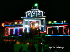 The Home of Lord BadriVishal on the Diwali Night in Badrinath in Uttarakhand