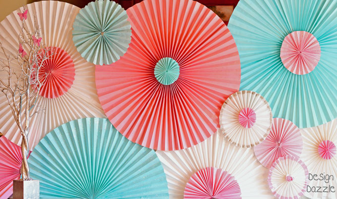 paper rosette Gorgeous diy: paper rosettes that are easy to make and add that extra pizzazz to any party decor.