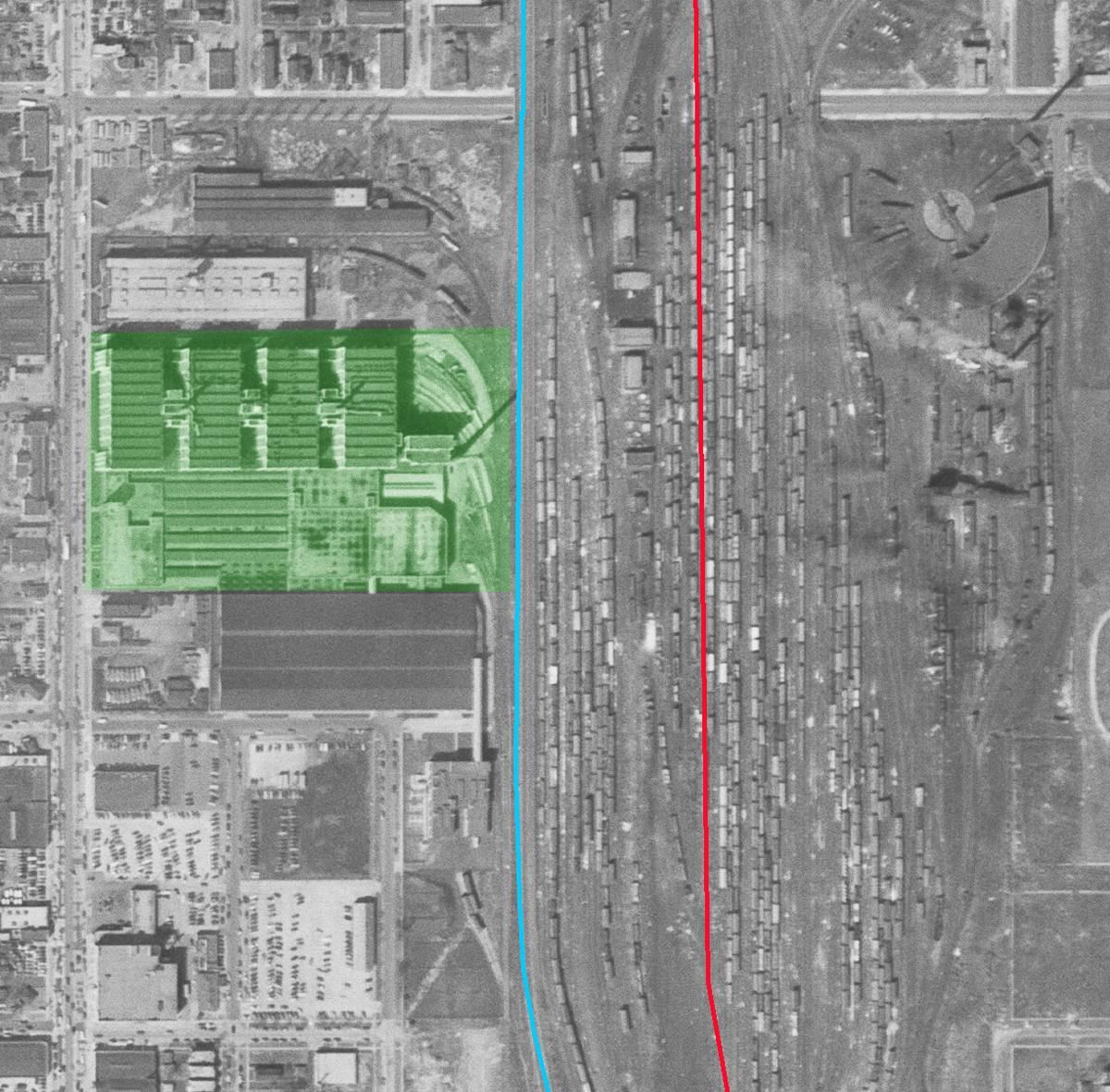 western avenue is at the left side of the photo running north south top bottom the east west cross streets are w 59th near the top of the image and