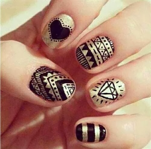 fingernail design cute nail