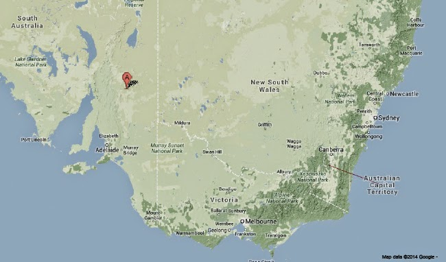Sciency thoughts magnitude 47 earthquake in south australia the approximate location of the 29 april 2014 south australia earthquake google maps gumiabroncs Images