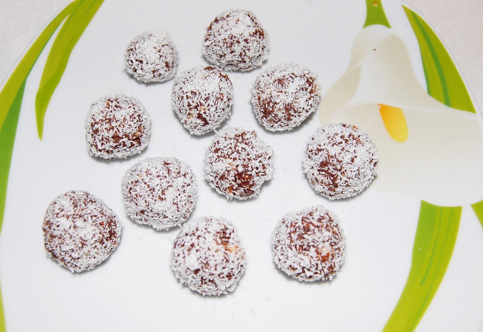 Presne kokosove kroglice
