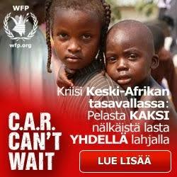 Keski-Afrikan tasavallan lapset tarvitsevat apua