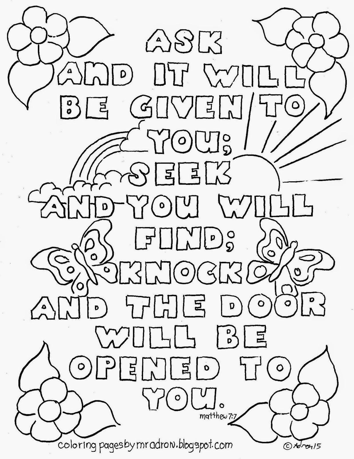 Matthew Bible Verse Coloring Pages desktop wallpaper