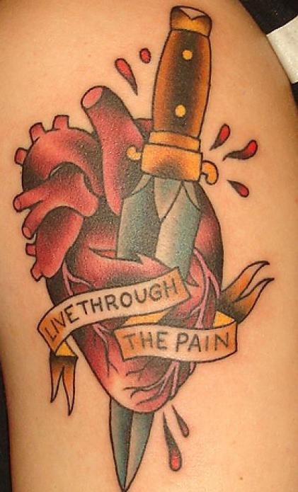 Simple Tattoo Art Heart Tattoo