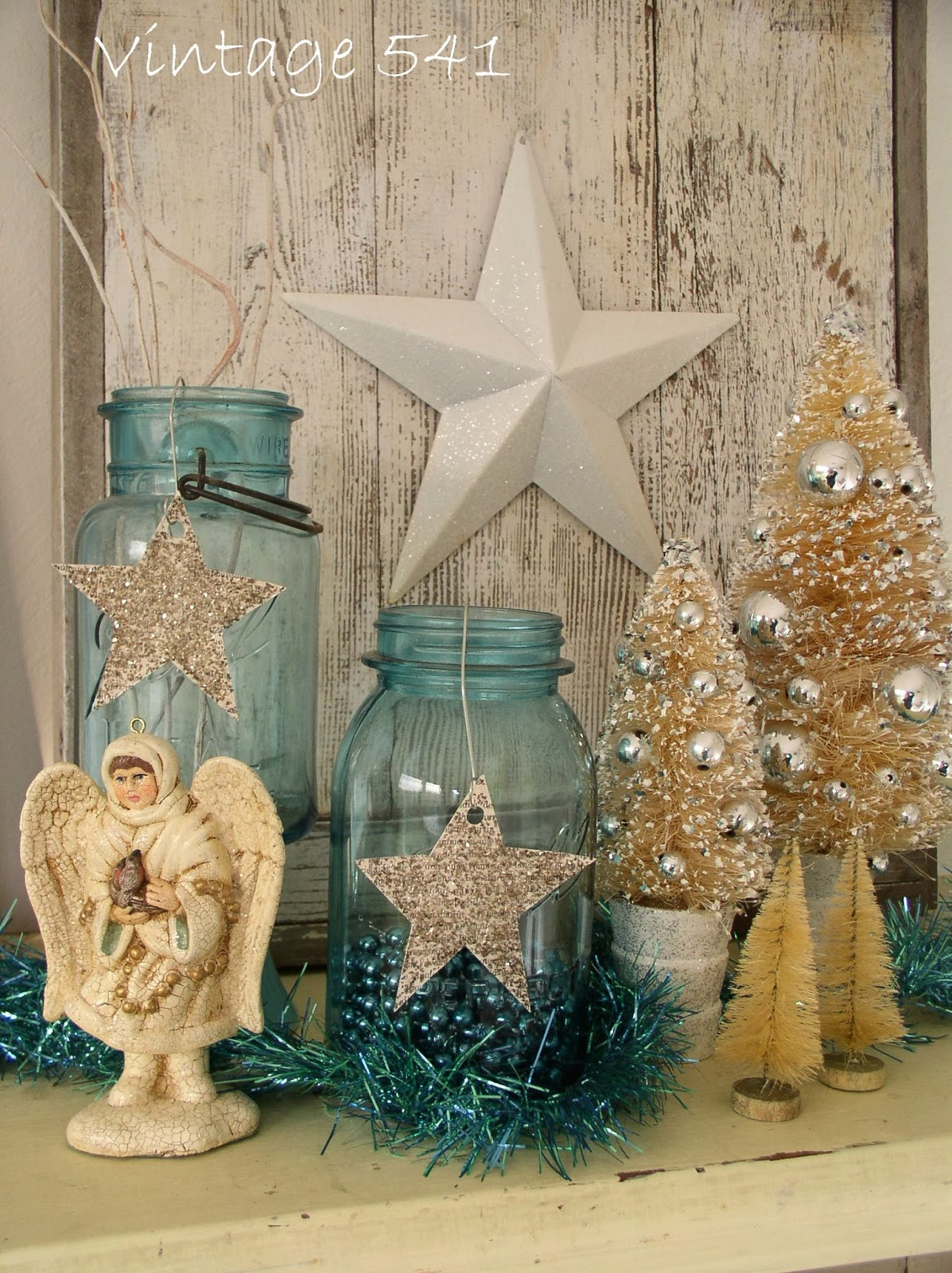 Vintage 541: Aqua and White Christmas Decor
