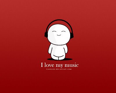 I Love My Music - Emoticon REDe wallpapers