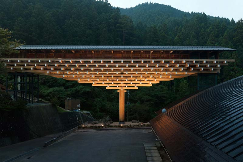 Yusuhara Wooden Bridge Museum In Japan