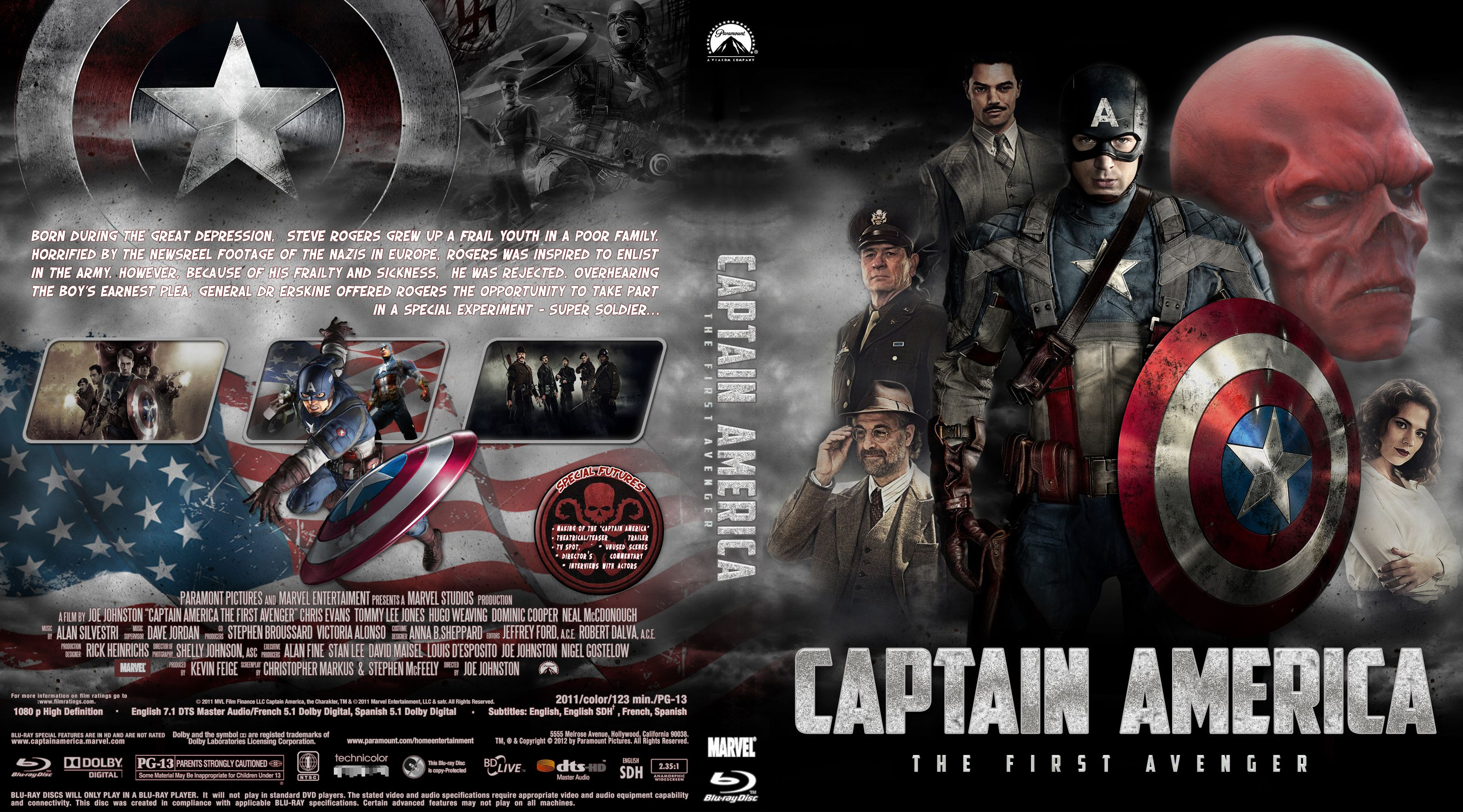 Capa Bluray Captain America The First Avenger