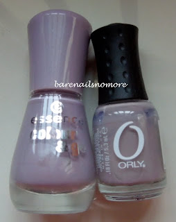 Essence Ballerina's Charm vs Orly You're Blushing comparison