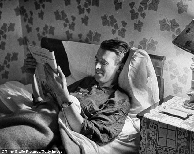 Jimmy Stewart after a hard day at the studio,