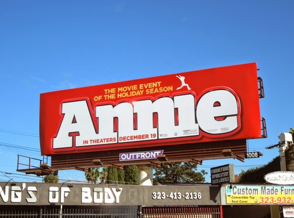 Annie movie musical remake billboard