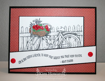 "ODBD ""Bicycle"" Set, Customer Card of the Day By Kim Howard"
