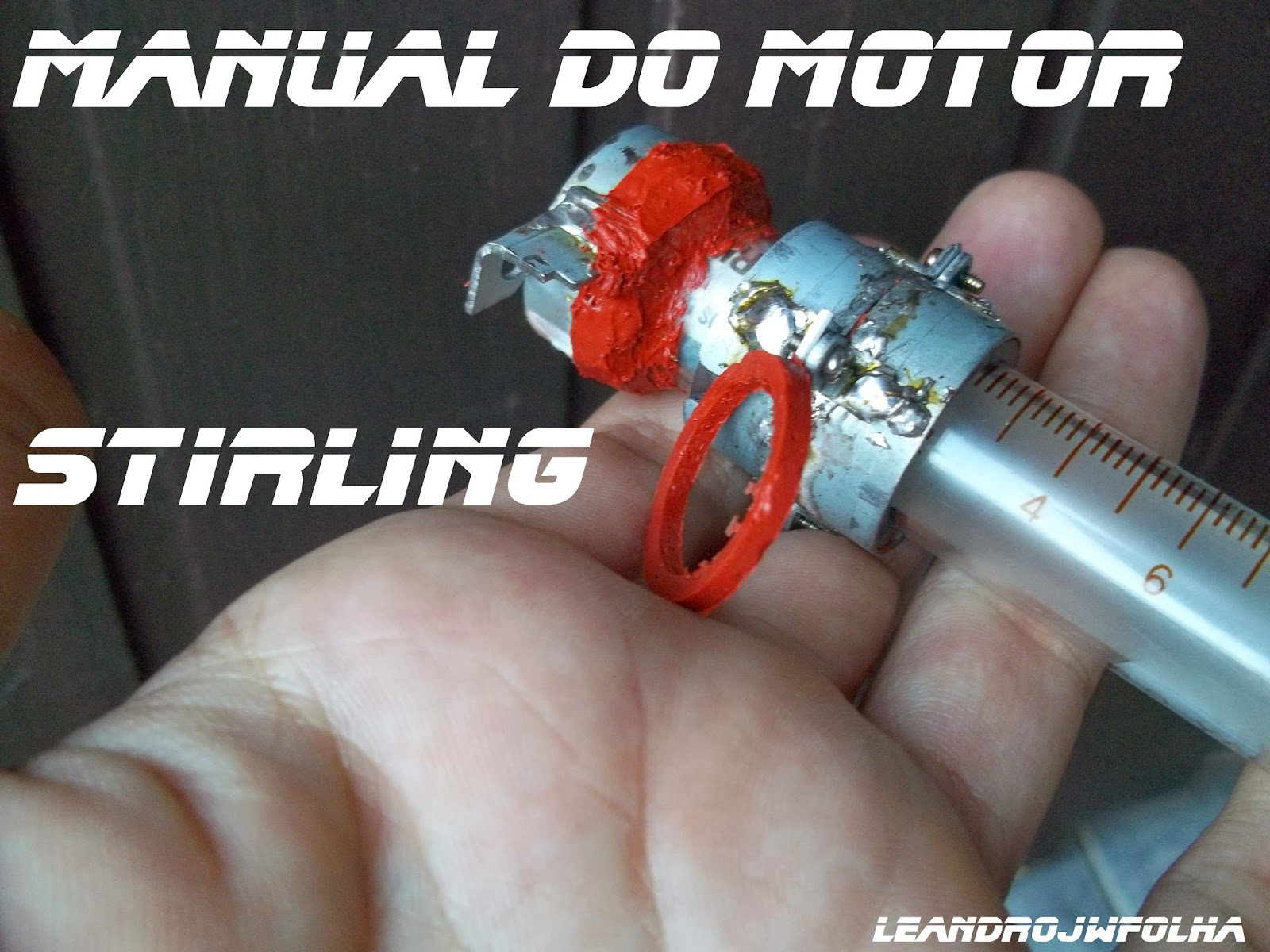 Manual do motor Stirling, borracha de vedação, feita com silicone de alta temperatura