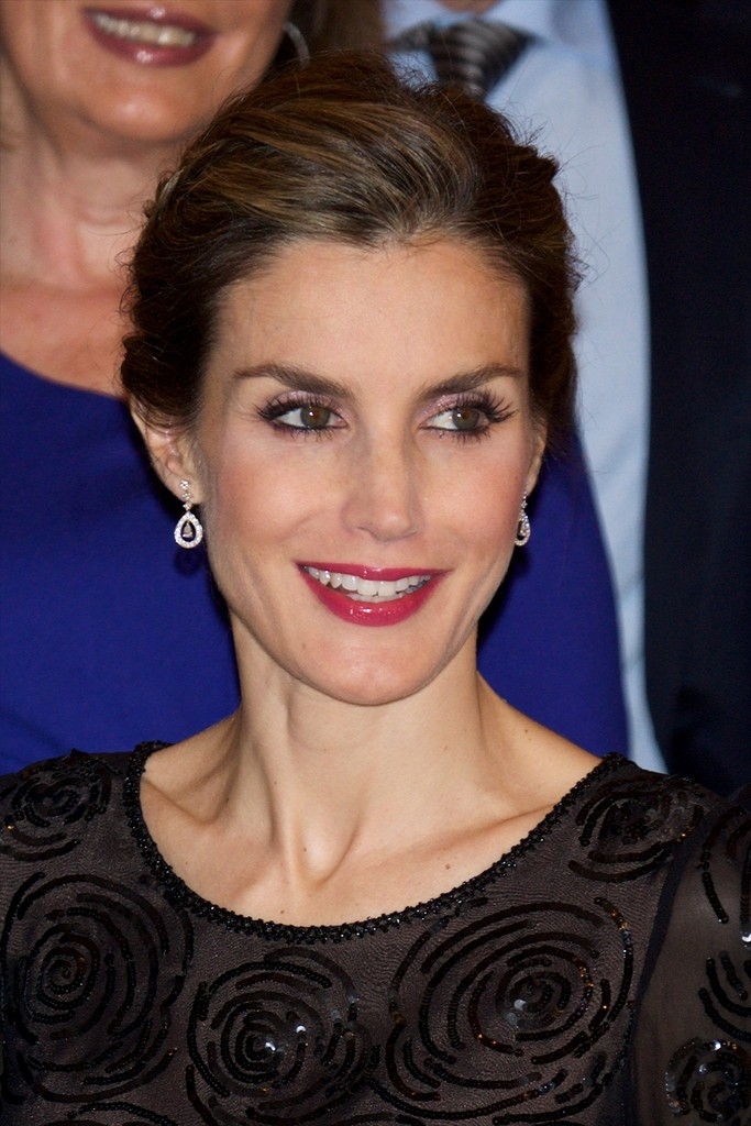 "King Felipe VI of Spain and Queen Letizia of Spain attend the ""Francisco Cerecedo"" journalism award 2014 ceremony"