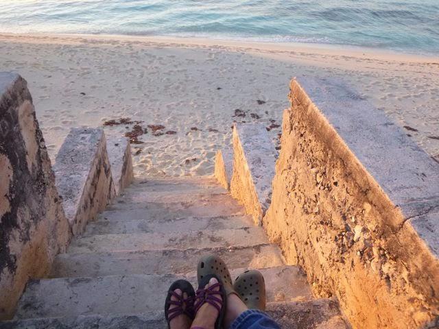 sunset in alice town bimini bahamas