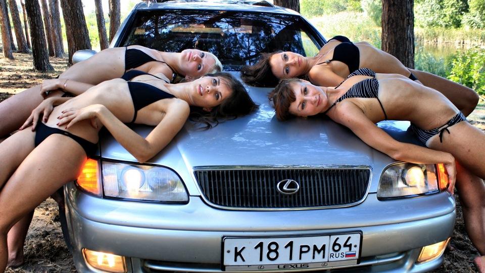 Lexus GS S140, dziewczyny z samochodami, zdjęcia
