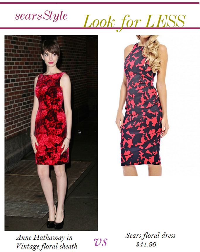 Anne Hathaway Floral Dress, Anne Hatahway Look for Less, #ThisisStyle #Cbias #shop