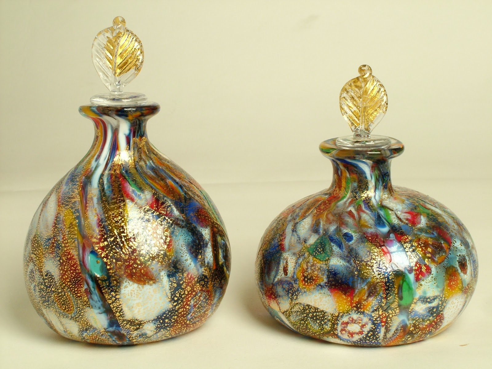 Devignidesigns murano glass perfume bottles