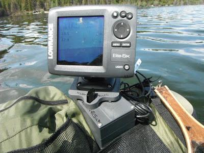 Lowrance Elite 5x on Float Tube Fanatics U2 Fish Finder Mount