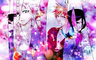 Bleach Toshiro Byakuya Ichigo Rukia Anime HD Wallpaper Desktop PC Background 1881